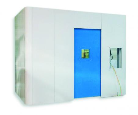 Shielded Cabinet 12 mm pb - automatic door - taylor made sizes available.