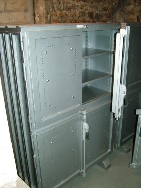 Shielded Cabinet for the storage of radioactive minerals.